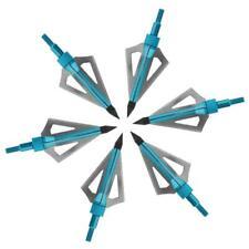 6 pcs Hunting Archery Broadheads 100 Grain 3 Blade Broad Screw Tips Arrow Heads