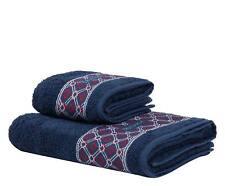 Trussardi Set 1 1 Asciugamano e Ospite in spugna Dandy Solid Blu