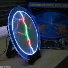"12"" Tricolor Plate Disk Plasma Lightning Shine Lamp Light Holiday Party Club Bar"