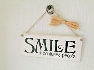 Wooden Handmade Chalk Painted Funny Plaque/Sign Gift