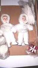 """ASHTON DRAKE """"SNOWBABIES AT CHRISTMAS"""" WITH SANTA & MRS.CLAUS AND COA"""