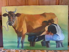 "Myron Leski Fine Art Original Oil Painting ""Double Milk"" 2001 Outstanding Work!"