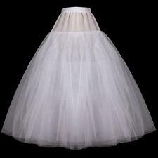 Neu ohne ringe Reifrock weiß A line Brautkleid Tüllrock Unterrock Petticoat 85cm