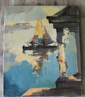 Original Vintage Painting, Oil or Acrylic, Signed H. Pauwels, Large Unframed Art