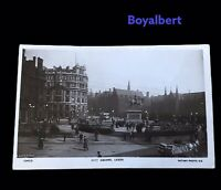 Vintage Real Photo Postcard War Memorial City Square Leeds Unposted Nice Card