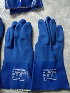 Guantes impermeables /2 pares de guantes Ansell 23-200/9 VersaTouch PVC