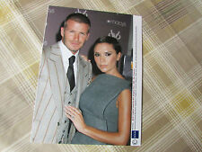 David & Victoria BECKHAM 2008 England FOOTBALL Signature Fragrance Press Photo