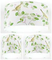 NEW Lampshade Handmade with Laura Ashley Aviary Garden Apple Green Wallpaper