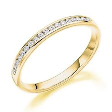 9 Carat Yellow Gold Eternity I1 Fine Diamond Rings
