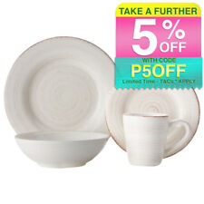 Casa Domani Portofino 16 Piece Dinner/Dining Kitchen Bowls/Mug/Plate Quartz Set
