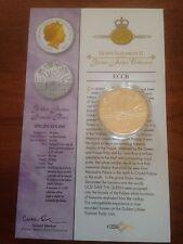 2002 1 OZ (approx. 28.35 g) Oro Plata Prueba $10 diez dólares moneda. Reinas Jubileo Verano Fiesta