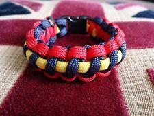 Royal Artillery RA Help for Heroes Inspiré Paracord 550 Bracelet