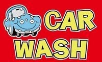 5' x 3' Car Wash Flag Advertise Van Hand Valet Auto Motor Banner Sign