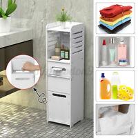 Bathroom Floor Cabinet Storage Toilet Bath Organizer Rack Shelf Free Standing US