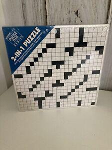 Vintage 1988 Springbok Puzzle Plus 2-in-1 500 Piece Jigsaw Crossword Sealed