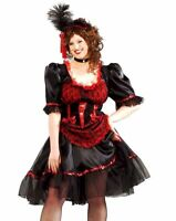 Sexy Red Adult Saloon Girl Can Can Burlesque Western Costume Dress Plus Size XL