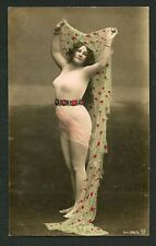 Germany 1910 Hand Tinted COSTUME Maillot Music Hall Dancer ~ VASTA Archives