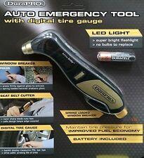 Durapro auto de emergencia cortador de cinturón de herramientas Neumático Calibre Luz Y Triturador De Cristal