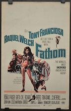 FATHOM 1967 ORIG 14X22 WC MOVIE POSTER TONY FRANCIOSA RAQUEL WELCH