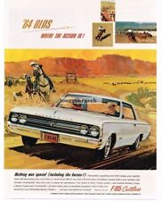 1964 Oldsmobile F-85 Cutlass Cowboy Calf-Roping art Vtg Car Print Ad
