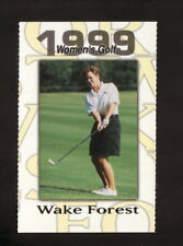 Wake Forest Demon Deacons--1999 Golf Pocket Schedule--Nike
