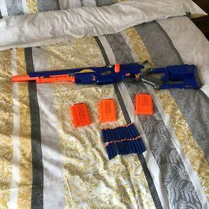 Nerf N-Strike Longstrike CS-6 Sniper Blaster Toy Gun 3 Mags 24 Darts Ammo