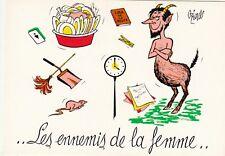 Carte postale HUMORISTIQUE HUMOUR OZIOULS les ennemis de la femme