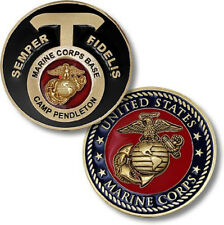 NEW USMC U.S. Marine Corps Base Camp Pendleton, CA Challenge Coin.