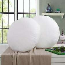 Indian White 32 Inches Round Polyester Fiber Cushion Pillow Insert Suffer Filler