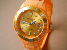 MADISON New York Candy Time Orologio Uomo con nastro in SILICONE COLORE ARANCIONE