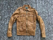 Authentic Diesel Jeans Brown Leather Biker Jacket Bomber S