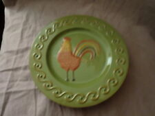 White Barn Candle Company~Rooster Design~Pillar Candle Plate~Olive Green
