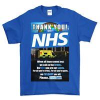 THANK YOU NHS T-SHIRT - (10% To NHS Charity) - BLUE