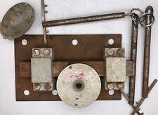 Vintage Hand Made Door Lock 3 keys Antique Handcraft