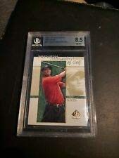 2001 Upper Deck SP Authentic Preview  Rookie Card Tiger Woods Beckett 8.5