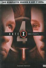 AKTE X - 4. Staffel - David Duchovny & Gillian Anderson - 7 x DVD SET