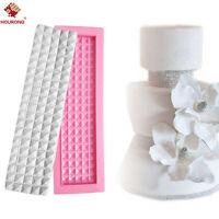 Diamonds Lace Fondant Silicone Mat Sugarcraft Mould Wedding Cake Decorative Mold
