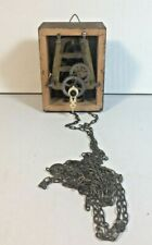 Vintage Black Forest Germany Wall Cuckoo Clock Case Movement & Brass Chain Only