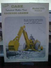 Case Industrial Rubber Tired Backhoe-Loader Brochure  (Folder BB)