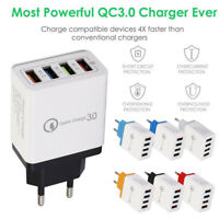3/4 USB Port Fast Universal Phone Wall Charger Power Adapter EU Plug For Iphone.