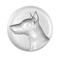 Metallemblem Dobermann Ø50mm Abzeichen geprägt Reliefemblem | Pokale Meier