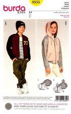 Burda Sewing Pattern 9355 Kids Jacket Hoodie NEW Size 6-13