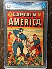 CAPTAIN AMERICA COMICS #57 CGC VF+ 8.5; OW; Infantino art! scarce!