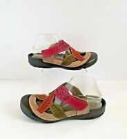 SPRING STEP L'ARTISTE Jexa Clog Grey Multi 41 9.5 10 Leather Multicolor Shoes