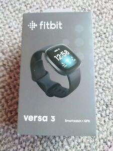 Fitbit Versa 3 Activity Tracker - Black infinity band/Black Aluminum case