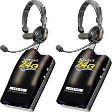 Eartec Simultalk 24G Full-Duplex Wireless Intercom with Slimline Headsets