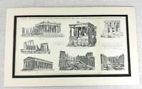 1897 Antique Print Ancient Greek Architecture The Parthenon Ruins Athens Greece