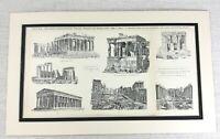 1897 Antique Print Ancient Greek Architecture The Parthenon Ruins Athens Greece