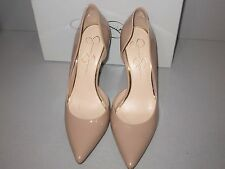 Jessica Simpson's natural patent women's Pointed-Toe d'Orsay Pumps. Used once.