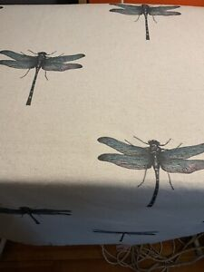 Clarke & Clarke Azure Aqua Fabric Tablecloth/ Throw  174cm X 130cm Sale £24